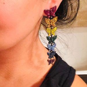 Jewelry - 🦋  🌈 New Long Dangle butterfly Earrings 🦋🌈